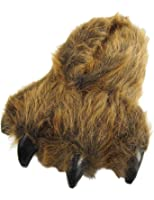 Wishpets Brown Grizzly Bear Paw Slippers