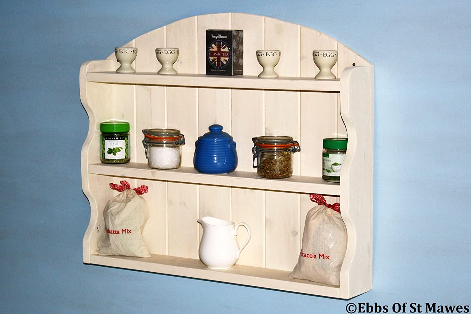 Ebbs Of St Mawes Shabby Chic Wooden Shelf