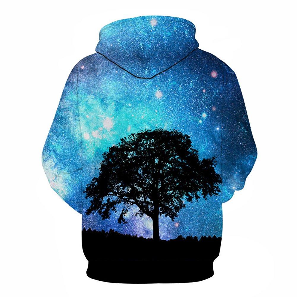 Eaglebeky Galaxy Woods Printed Hoodie Unisex Sweatshirts Boy Pullover Fashion Animal Streetwear Clothes (1, 5XL) by Eaglebeky (Image #2)