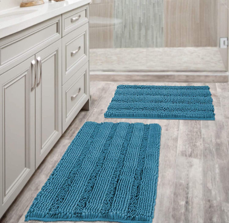 1X Non-Slip Bath Mats Plush Soft Floor Mat Bathroom//Kitchen//Shower Absorbent Rug