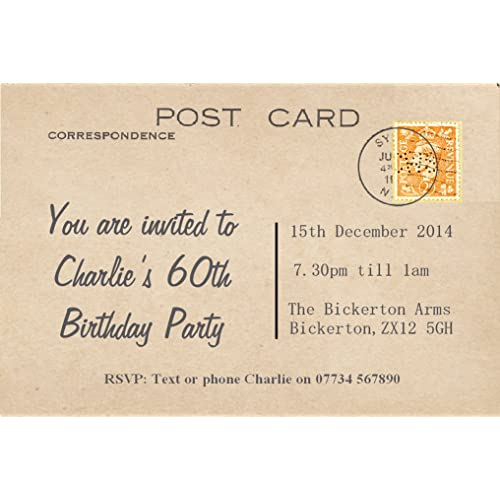 60th invite cards amazon co uk