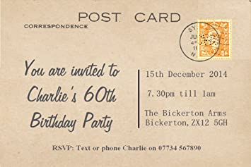 65 Personalised Magnetic Party Invitations