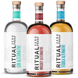 RITUAL ZERO PROOF Gin, Tequila & Whiskey Alternatives | Award-Winning Non-Alcoholic Spirits | 25.4 Fl Oz (750ml) Each | Low & No Calorie | Keto, Paleo & Low Carb Diet Friendly | Alcohol Free Cocktails
