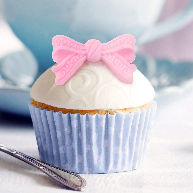 Bow Fondant Mold, Beasea 3pcs Candy Sugar Craft Fondant DIY Gumpaste Cake Decoration Cupcake Decorating Toppers Clay Purple by Beasea (Image #5)