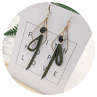Amazon com: Hand made simple wind earrings Korea Mori girl