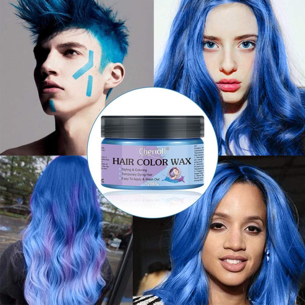 Cera para el cabello, color barro, colorante para el cabello, color natural de los cabellos, ingredientes naturales lavables, temporal