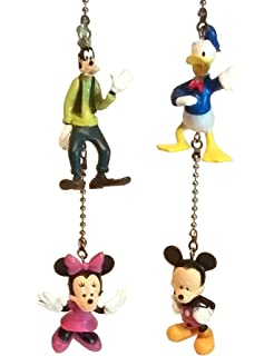 Disney mickey mouse ceiling fan light pull ceiling fan pull mickey mouse clubhouse ceiling fan pull set by wooden androyd studio kids room nursery decor aloadofball Gallery