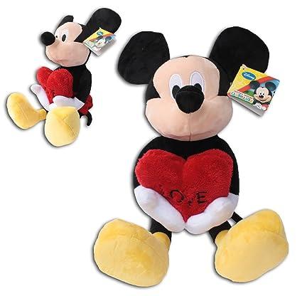 Mickey Mouse 40cm Corazon LOVE Muñeco Peluche Super Soft Raton Disney Junior Club House Alta Calidad