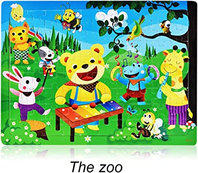 DIGOOD Kids Magnetic Maze Toys Preschool Wooden Game Toy Intellectual Jigsaw Board for 3 Years Preschool Learning Educational Toys