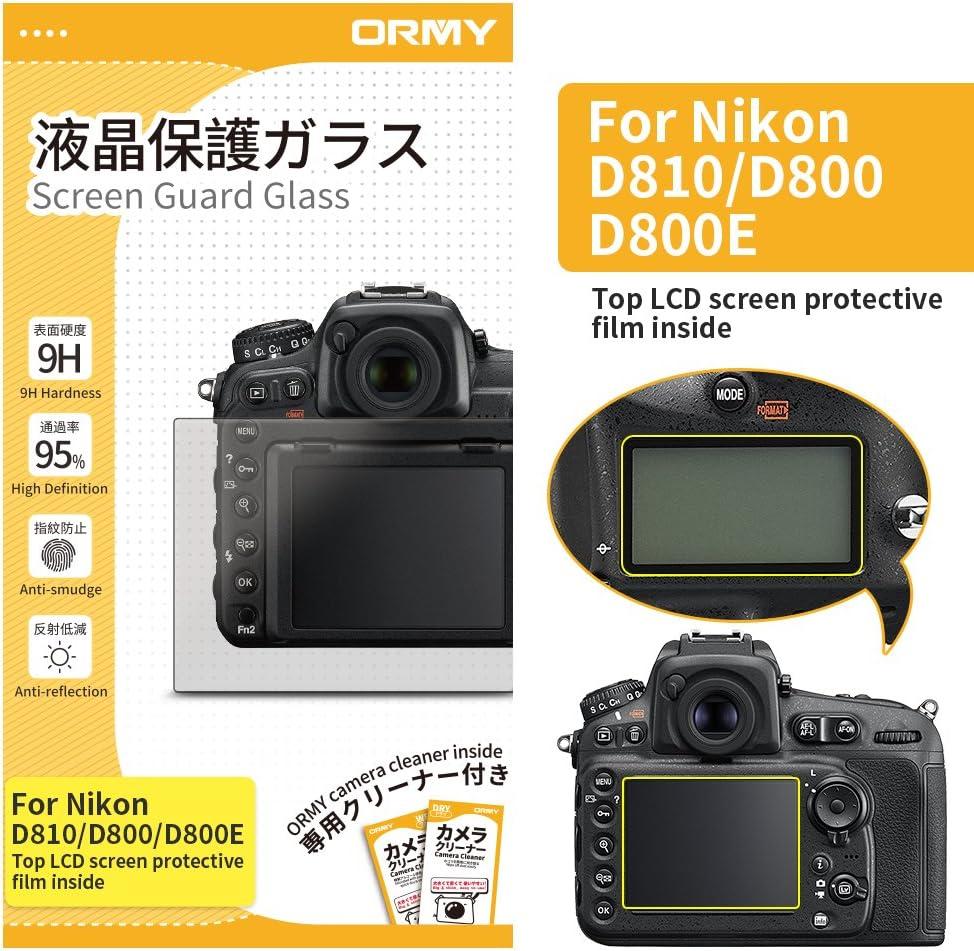 ORMY 0.3mm Protector de Pantalla para cámara para Nikon D810 ...