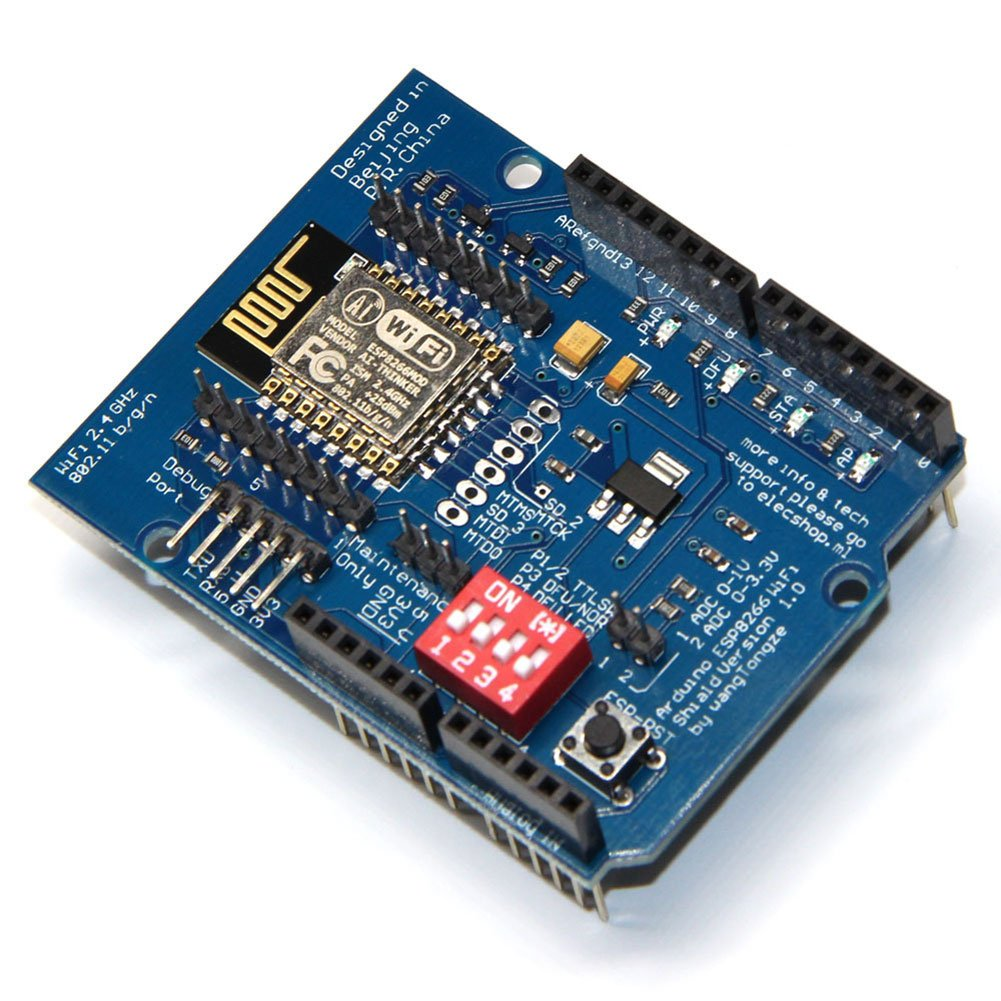 Rokoo ESP8266 ESP-12E UART WIFI Drahtloser Schild TTL Konverter F/ü r Arduino UNO R3 Mega 107392