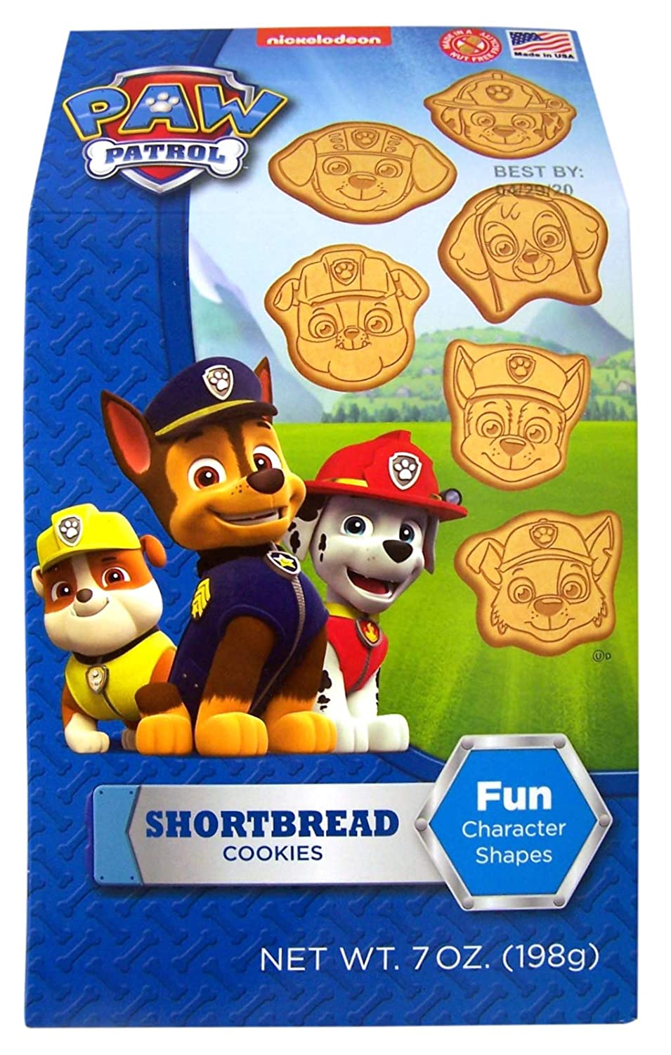 Paw Patrol Character Shaped Shortbread Cookies 7 oz Box