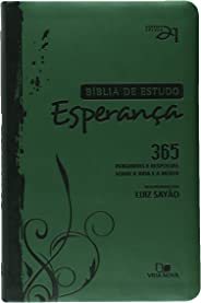 Bíblia de estudo Esperança - Verde - 2ª. Ed. revisada e atualizada