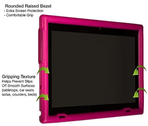 BobjGear Carcasa Resistente para Tablet Lenovo Miix 320 - Bobj Funda Protectora (Rosa)