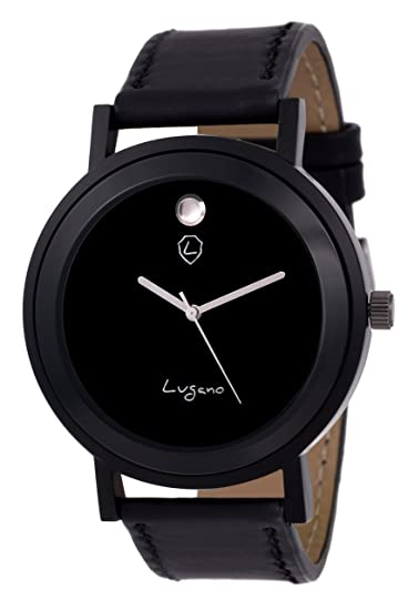 3727e61c7 Buy Lugano Black Movado Dial Analog Watch for Men/Boys (LG 1081) Online at  Low Prices in India - Amazon.in