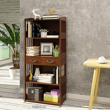 JXBOOS BookshelfFloor Standing Living Room Childrens Shelves Antique Chinese Style Bay Window Bookcase