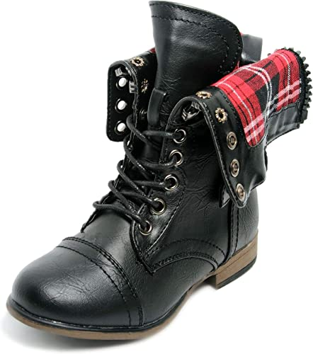 Military Combat Boot Fold-Over Cuff