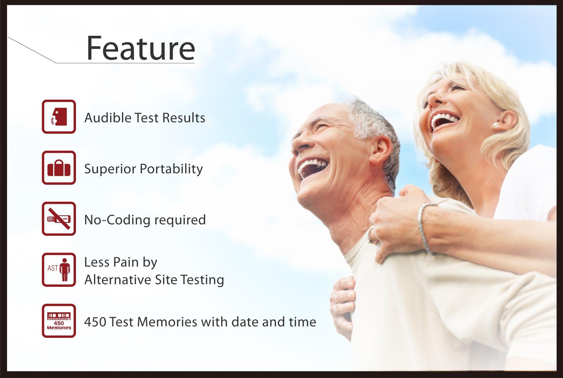 Pro Voice V9 Diabetes Testing kit (1 Pro Voice V9 Talking Meter, 100 Test Strips, 100 Lancets, 1 Painless Design Lancing Device & Carry Case)