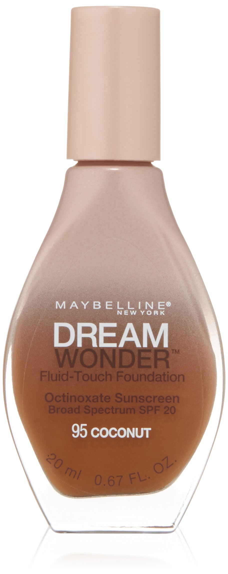 Maybelline New York Dream Wonder Fluid-Touch Foundation, Coconut, 0.67 Fluid Ounce