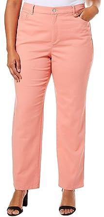 50a8647f04b Image Unavailable. Image not available for. Color  GLORIA VANDERBILT Plus  Amanda Solid Slim Fit Jeans 20W Short ...