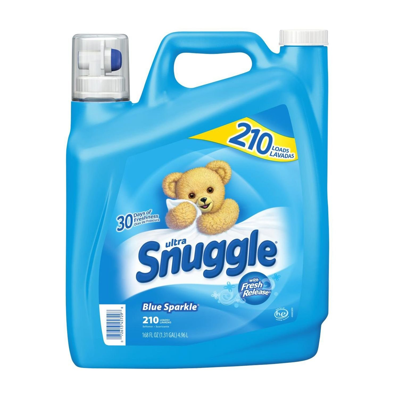 Snuggle Blue Sparkle Fabric Softener (210 Loads, 168 oz.) (4-Pack) by Snuggle