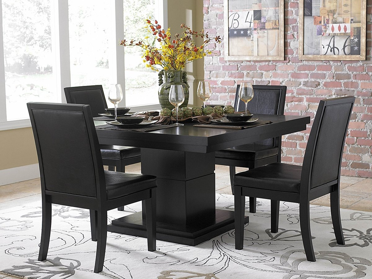 a9455444a6016 Amazon.com - Cicero 5 Piece Dining Table Set by Home Elegance in Black -  Table   Chair Sets