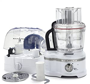 KitchenAid KFP1642MS ProLine Medallion Silver 16 Cup Food Processor with ExactSlice System (Renewed)