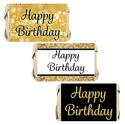 Amazon.com: Feliz Cumpleaños Partido Miniaturas Candy Bar ...