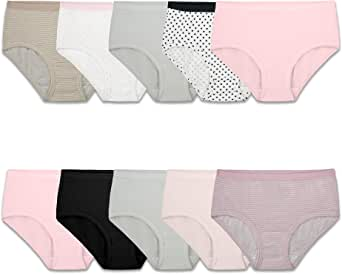 Fruit of the Loom Girls Cotton Brief Underwear Briefs - Multi