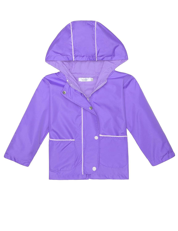 Arshiner Girl's Waterproof Raincoat Switchback Rain Jacket