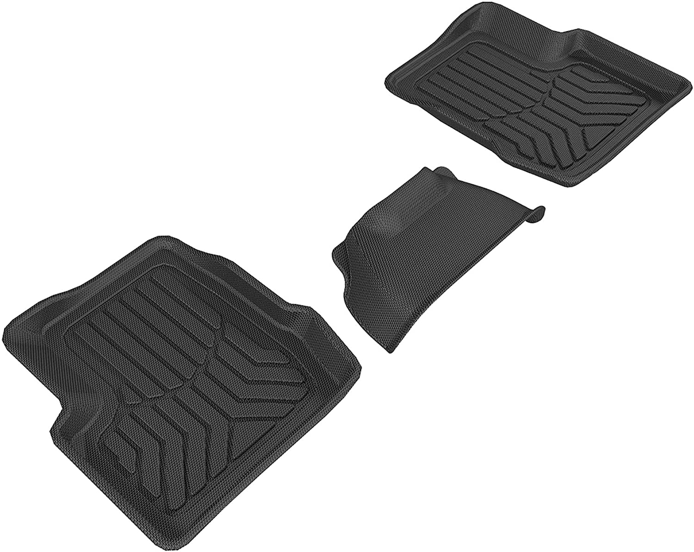 1st Row Only ARIES JP01111809 StyleGuard XD Black Custom Truck Floor Liners for Jeep Wrangler JK