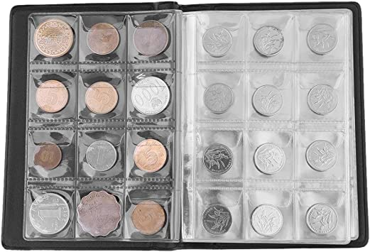 Coin Collectors Collecting Album 120 Coin Holders Green