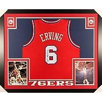 $399 » Dr. J Julius Erving Philadelphia 76ers Autograph Signed Custom Framed Jersey Red JSA Witnessed Certified