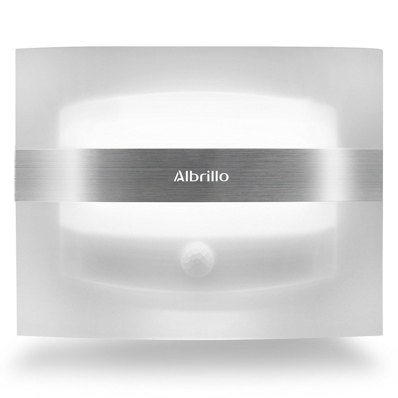 Albrillo Kabellose LED Wandleuchte batteriebetrieben mit ...