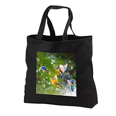 3dRose Sven Herkenrath Animal - Many Exotic Birds in the Free Nature Wildlife Jungle Animal - Tote Bags