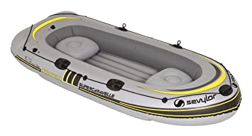 Sevylor Inflatable Boat Supercaravelle XR116GTX-7, 4 man Dinghy, Inflatable  Pool Beach Toy