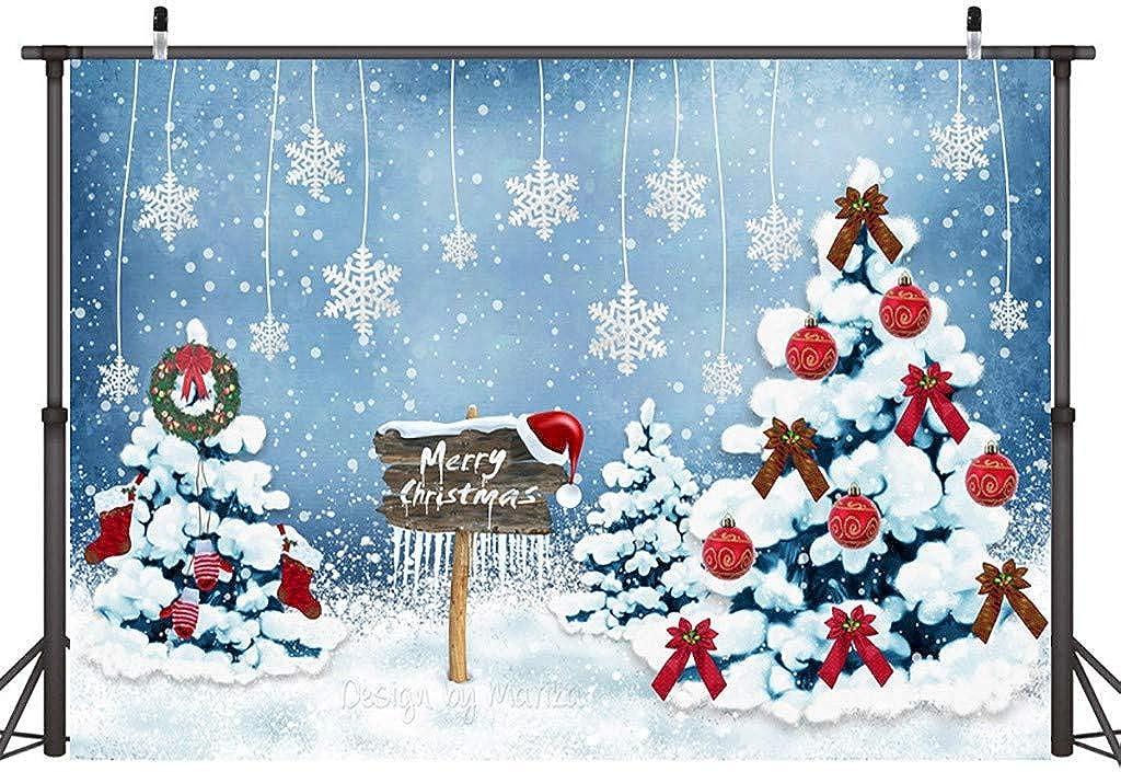 Tigivemen New Christmas Backdrops Vinyl 5x3FT Fireplace Background Photography Studio