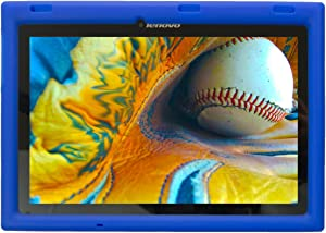Bobj Rugged Case for Lenovo Tab 2 A10-70, A10-70F and Lenovo Tab 3 TB3-X70L, TB3-X70F - BobjGear Custom Fit - Patented Venting - Sound Amplification - Kid Friendly (Batfish Blue) Not for TB-X103F