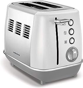 Morphy Richards Evoke 2 Slice Toaster 224409 white Two Slice Stainless Steel Toaster White Toaster 850 watts