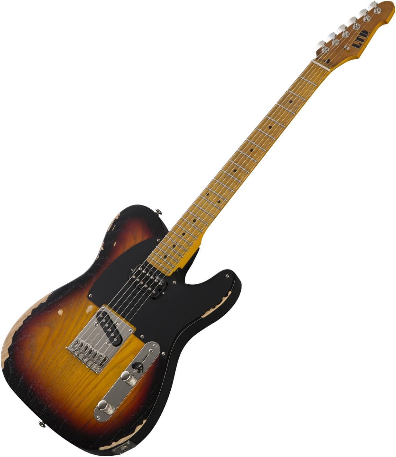 Distressed 3 Tone Burst ESP LTD TE Series TE-254 Electric Guitar