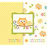Creative Converting Baby Shower Happi Tree 25 Count Enhanced Invitations