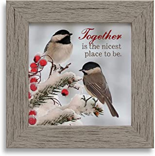 product image for Imagine Design Together is The Nicest Place Snowbirds Framed Art, Multi