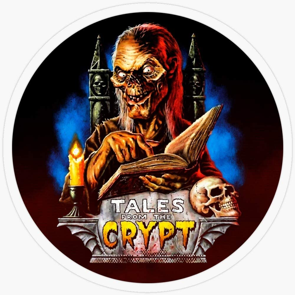 """Lplpol Stickers Tales from The Crypt - Scary Movies Gift Decorations 5.5"""" Vinyl Stickers, Laptop Decal, Water Bottle Sticker"""