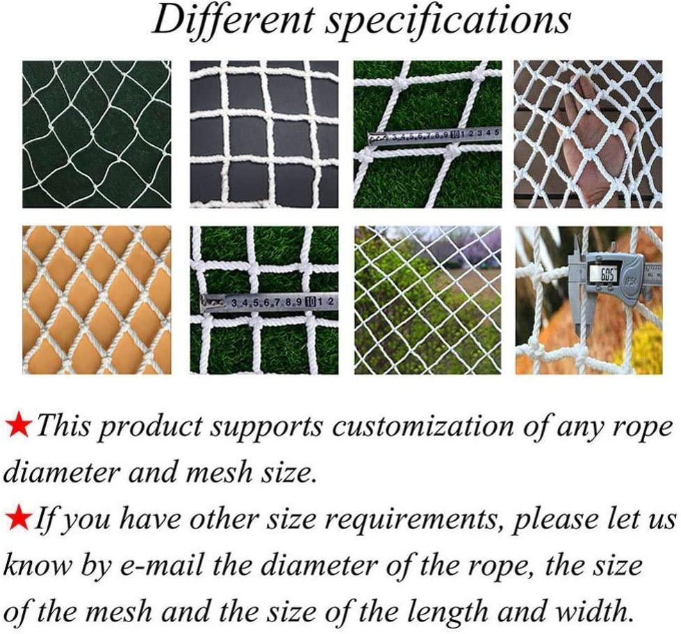 WZHONGT Protective Net,Child Anti-Fall Balcony Stair Safety Protection Garden Plant Decoration Anti-cat Isolation Court Fence Outdoor Obstacle Lattice Goal Backstop Netting Cargo Ball Stop Cord Net