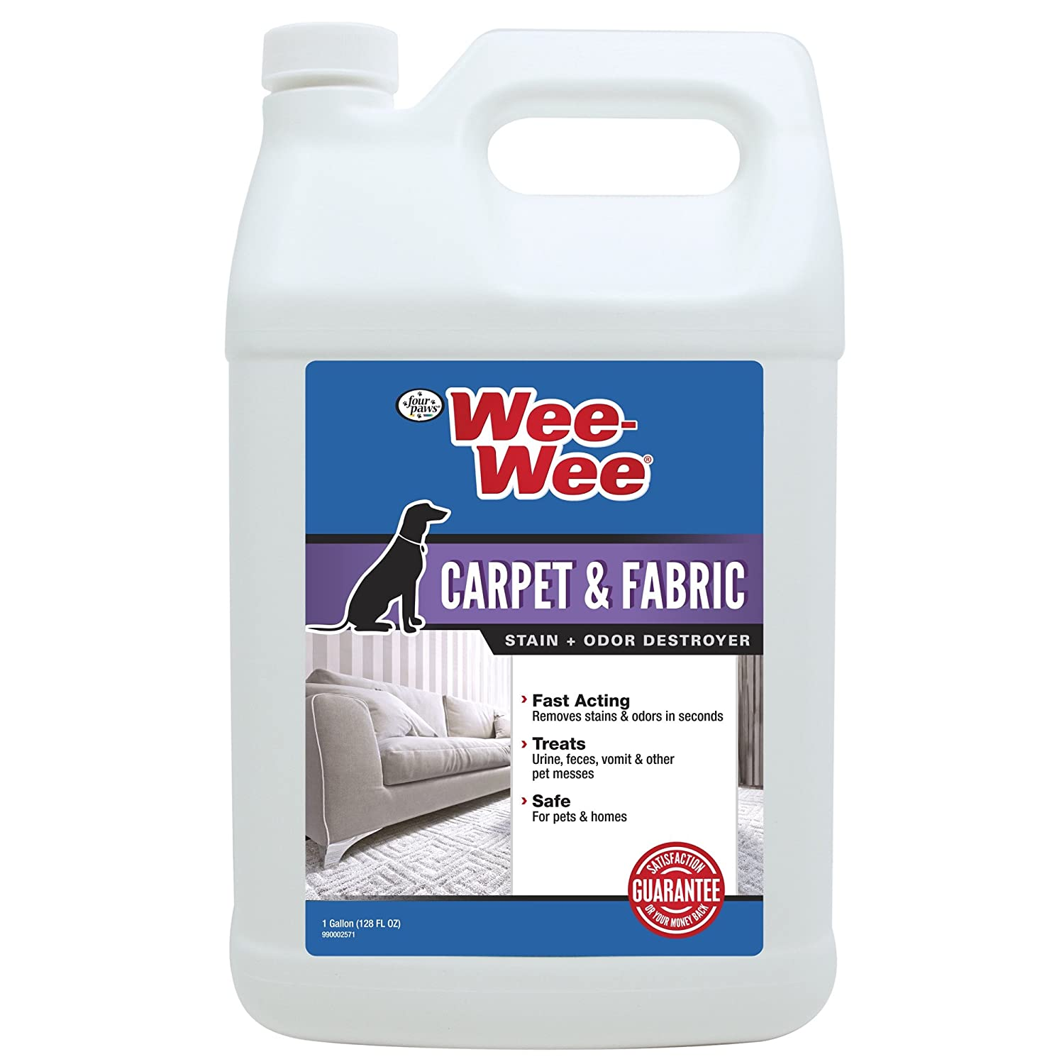 Four Paws Wee-Wee Pet Stain and Odor Remover Carpet & Fabric 32 oz Central Pet Four Paws 100524779
