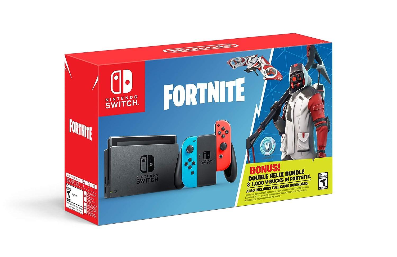 Amazon Com Nintendo Switch Fortnite Double Helix Console Bundle Switch Video Games