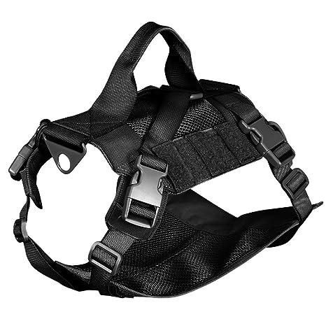 Outry - Chaleco táctico para perro, arnés de entrenamiento para ...