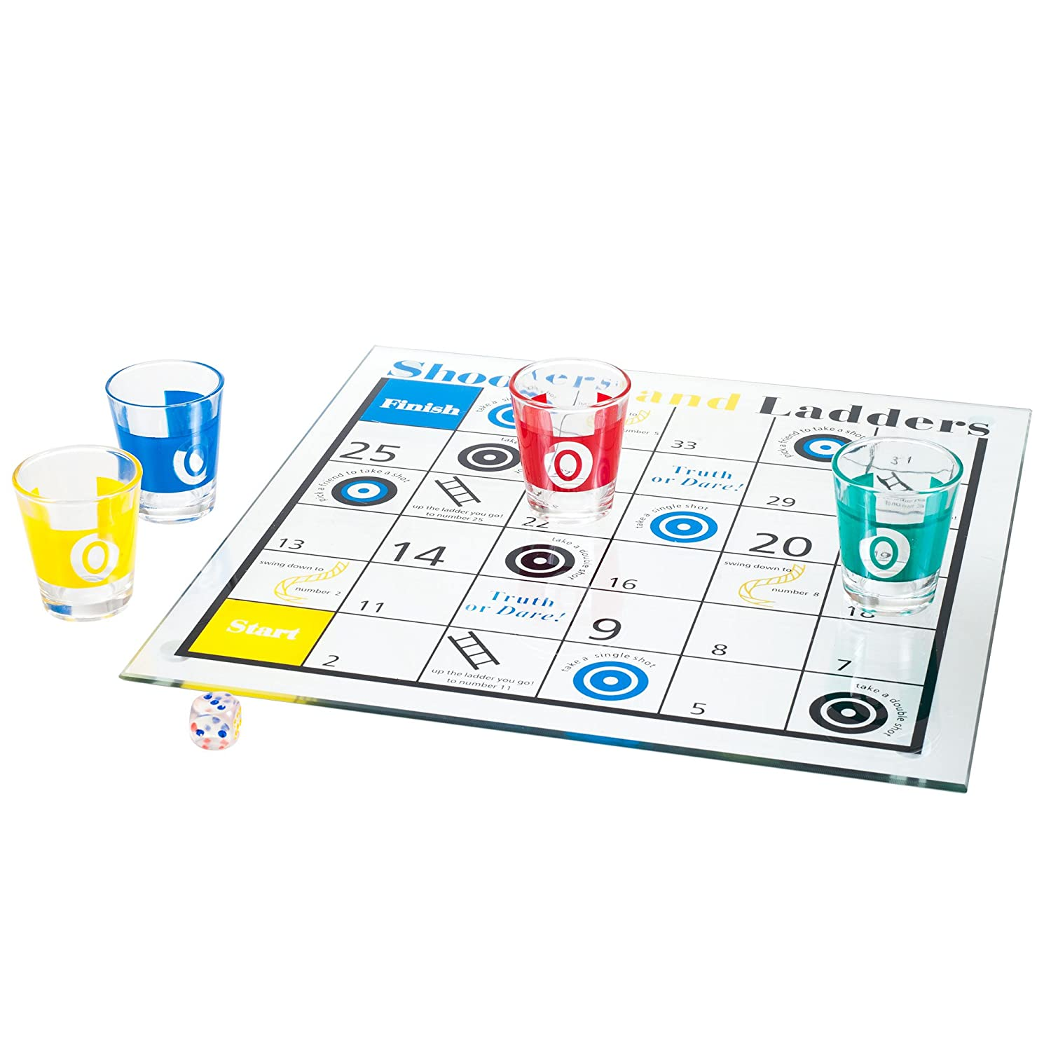 Shooters & Ladders Drinking Game Set Trademark GLB 80-GC069A