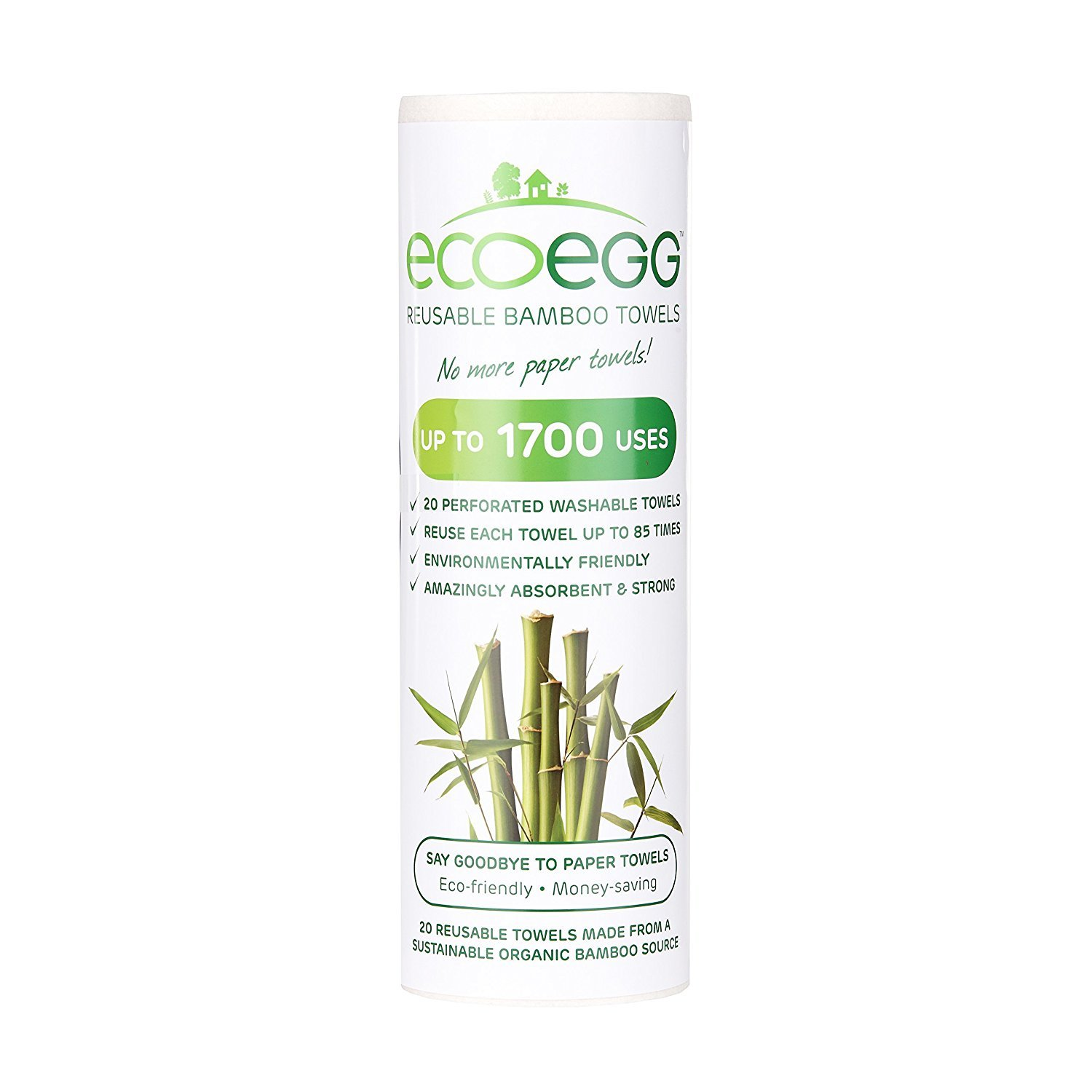 Ecoegg Bamboo Towels Pack of 4 20 Towels