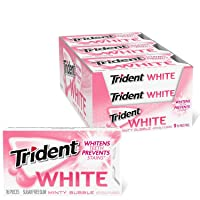 Trident White Minty Bubble Sugar Free Gum, 9 Packs of 16 Pieces (144 Total Pieces)